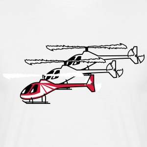 Helicopter Helicopter flying model lineup T-Shirts - Men's T-Shirt