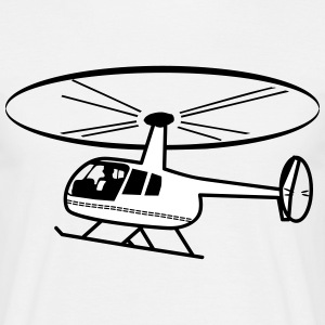 Flyga helikopter rotor helikopter T-shirts - T-shirt herr