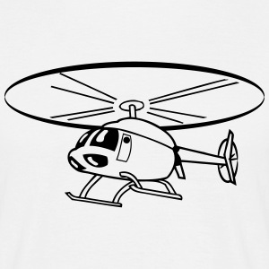 Flying Helicopter Helicopter T-Shirts - Men's T-Shirt