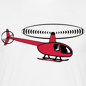 Helikopter helikopter T-shirts - Herre-T-shirt