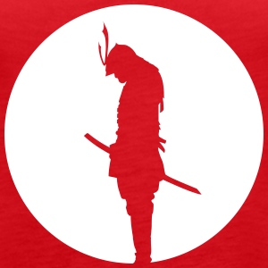 Japan Samurai Warrior - silhouette (Japan flag) Topper - Premium singlet for kvinner