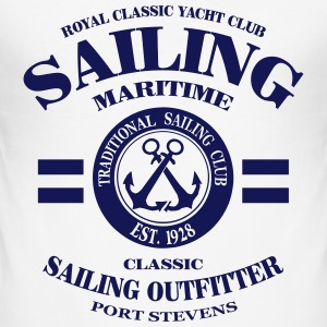 Maritime Sailing T-Shirts - Men's Slim Fit T-Shirt