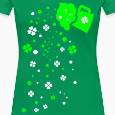 Green beer shamrocks Women's Premium T-Shirt