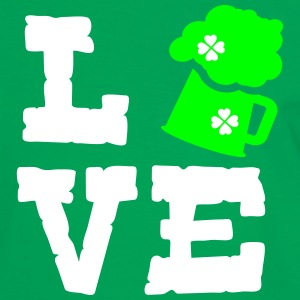 Love green beer Men's Ringer Shirt - Men's Ringer Shirt