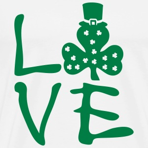 LOVE St.paddy's day Men's Premium T-Shirt - Men's Premium T-Shirt