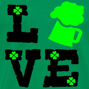 LOVE  green beer Men's Premium T-Shirt - Men's Premium T-Shirt