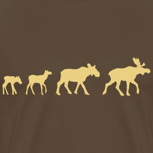 Moose Family T-skjorter - Premium T-skjorte for menn
