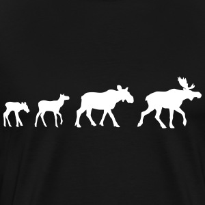 Moose Family T-shirts - Mannen Premium T-shirt