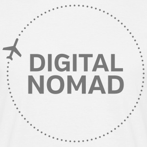 Digital Nomad T-shirts - Mannen T-shirt