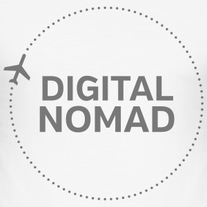 Digital Nomad T-Shirts - Männer Slim Fit T-Shirt