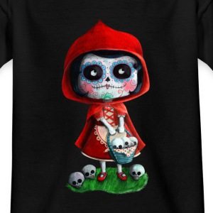 Mexican Little Red Riding Hood La Catrina Shirts - Kids' T-Shirt