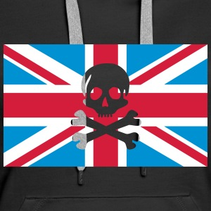 Skull And Bones Union Jack; Union Jack Hoodies & Sweatshirts - Women's Premium Hoodie