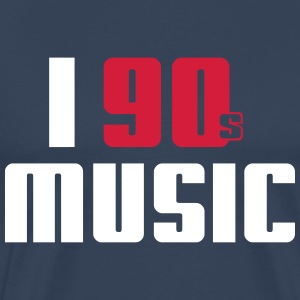 I Love 90s Music T-skjorter - Premium T-skjorte for menn