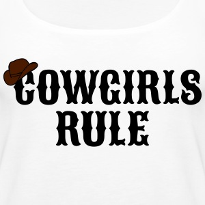 Cowgirls rule cowgirls regel Tops - Vrouwen Premium tank top