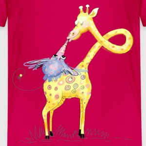 Giraffe in love Shirts - Teenage Premium T-Shirt