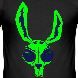 rabbit_skull - Männer Slim Fit T-Shirt