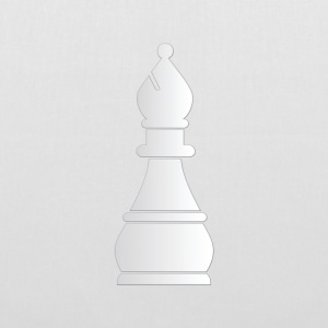 White bishop chess piece - Tote Bag
