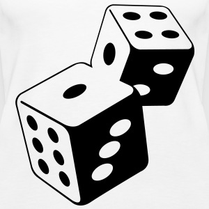 Two dice at the casino Tops - Women's Premium Tank Top
