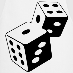 Two dice at the casino  Aprons - Cooking Apron