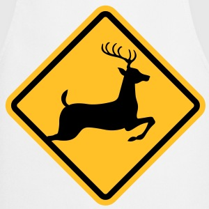 Warning: deer on the road  Aprons - Cooking Apron