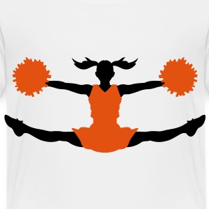 A cheerleader with pom poms Shirts - Kids' Premium T-Shirt