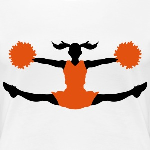 A cheerleader with pom poms T-Shirts - Women's Premium T-Shirt