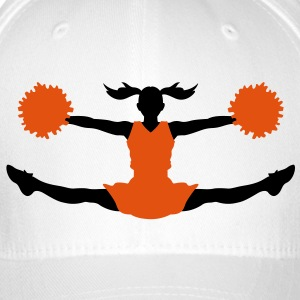 A cheerleader with pom poms Caps & Hats - Flexfit Baseball Cap