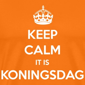 KEEP CALM IT IS KONINGSDAG T-shirts - Mannen Premium T-shirt