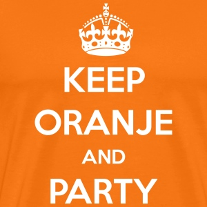 KEEP ORANJE AND PARTY T-shirts - Mannen Premium T-shirt