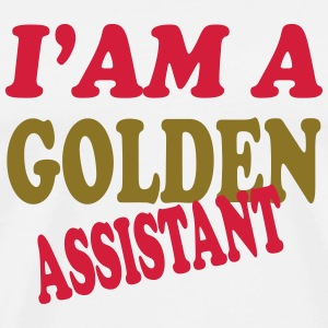 I'am a golden assistant 111 T-shirts - Herre premium T-shirt