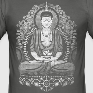 Gautama Buddha Distressed T-Shirts - Men's Slim Fit T-Shirt