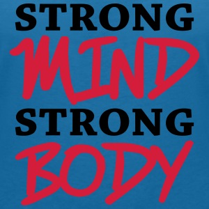 Strong mind, strong body T-Shirts - Women's V-Neck T-Shirt