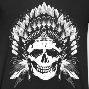Chief Skull white motif T-Shirts - Men's V-Neck T-Shirt
