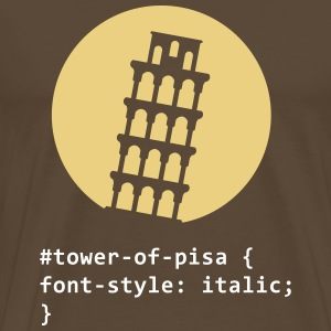 CSS ordspil: The Tower of Pisa T-shirts - Herre premium T-shirt