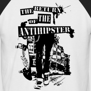 Anti Hipster - Männer Baseball-T-Shirt