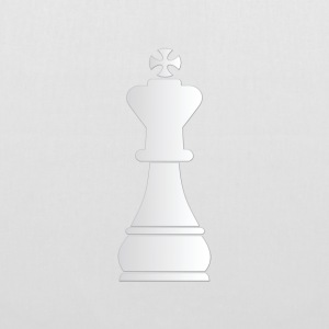 White king chess piece - Tote Bag