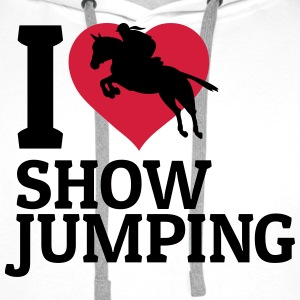 I love showjumping Hoodies & Sweatshirts - Men's Premium Hoodie