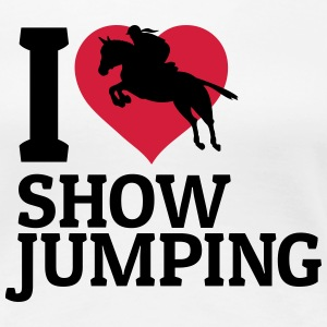 I love showjumping T-Shirts - Women's Premium T-Shirt