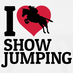 I love showjumping j'adore le saut d'obstacles Tee shirts - T-shirt Premium Homme