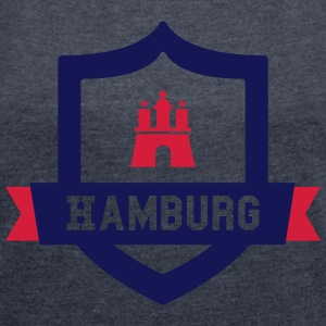 Hamburg College badge T-Shirts - Women's T-shirt with rolled up sleeves