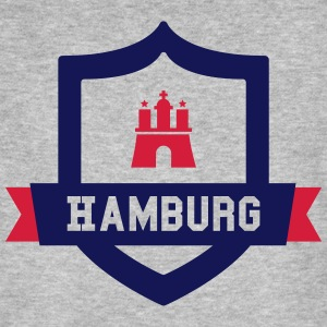 Hamburg College badge T-shirts - Mannen Bio-T-shirt