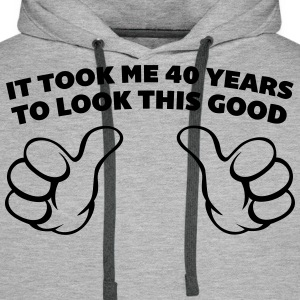 40 Years Look This Good  Sweaters - Mannen Premium hoodie
