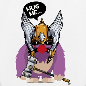Cuddly monster with Thor's hammer as a Viking Bags & Backpacks - EarthPositive Tote Bag