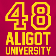 Motif ~ Body Bébé 48 Aligot University marquage or.