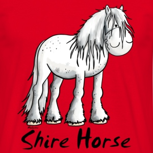 White Shire Horse T-Shirts - Men's T-Shirt