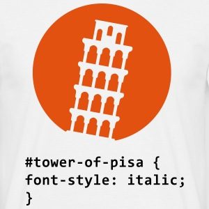 CSS pun: The Tower of Pisa T-Shirts - Men's T-Shirt