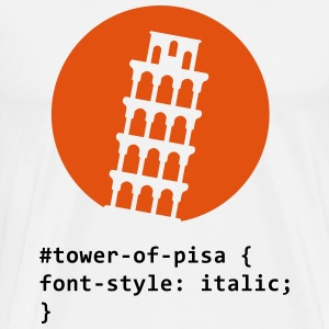 CSS pun: The Tower of Pisa T-Shirts - Men's Premium T-Shirt