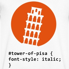 CSS pun: The Tower of Pisa T-Shirts