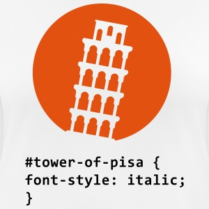 CSS ordlek: The Tower of Pisa T-shirts - Andningsaktiv T-shirt dam