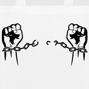 A prisoner is freed from his chains Bags & Backpacks - EarthPositive Tote Bag